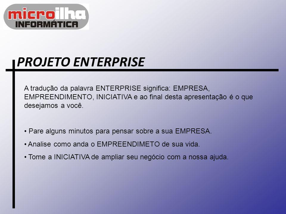 PROJETO ENTERPRISE A tradução da palavra ENTERPRISE significa: EMPRESA, EMPREENDIMENTO, INICIATIVA e ao final desta apresentação é o que desejamos a v