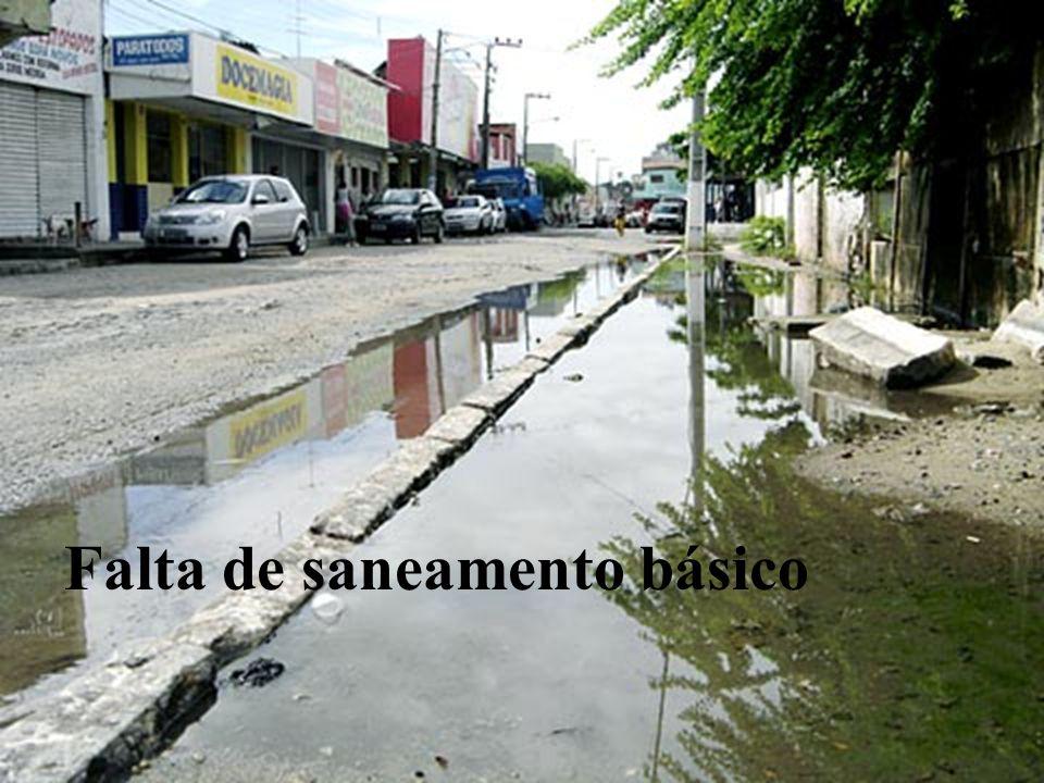 Falta de saneamento básico