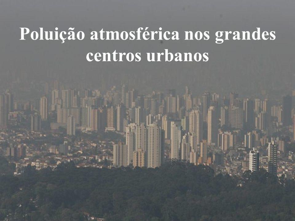 Poluição atmosférica nos grandes centros urbanos