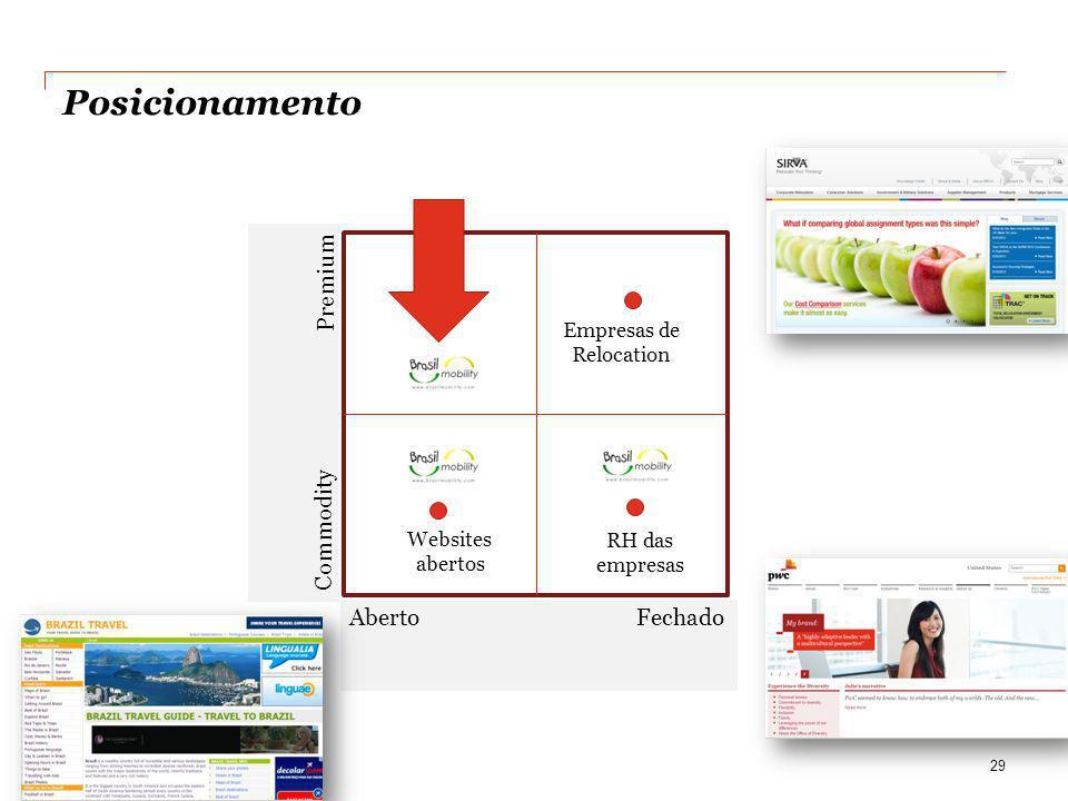 Posicionamento 29 Premium Commodity Aberto Fechado Websites abertos Empresas de Relocation RH das empresas