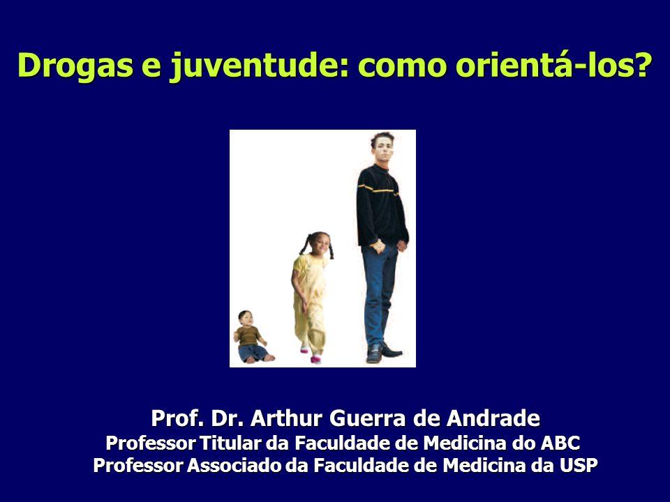 Drogas e juventude: como orientá-los? Prof. Dr. Arthur Guerra de Andrade Prof. Dr. Arthur Guerra de Andrade Professor Titular da Faculdade de Medicina