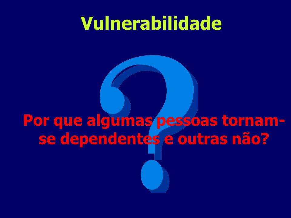 Por que algumas pessoas tornam- se dependentes e outras não? Vulnerabilidade