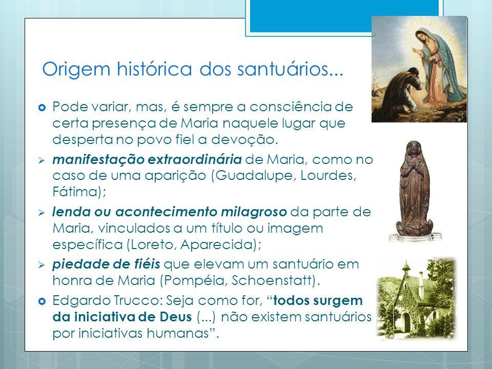 Origem histórica dos santuários...
