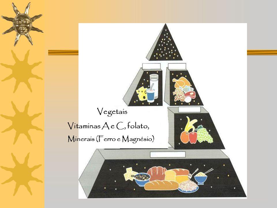 Fruta Vitaminas A e C, Potássio