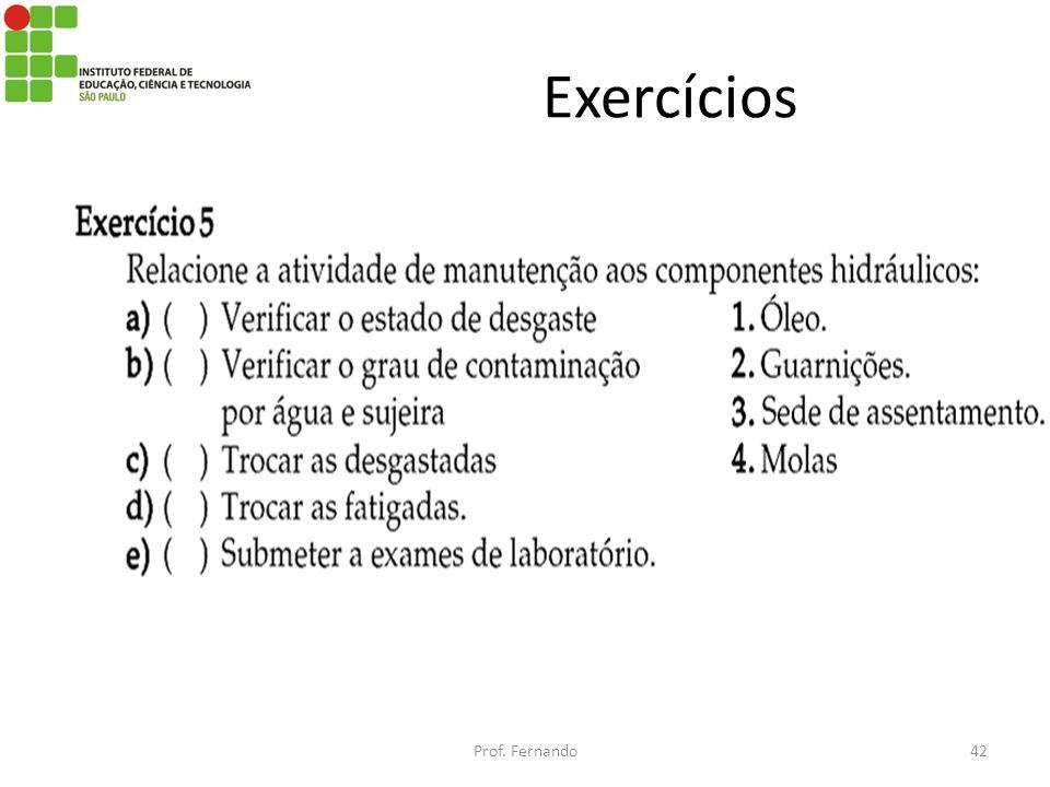 Exercícios Prof. Fernando42