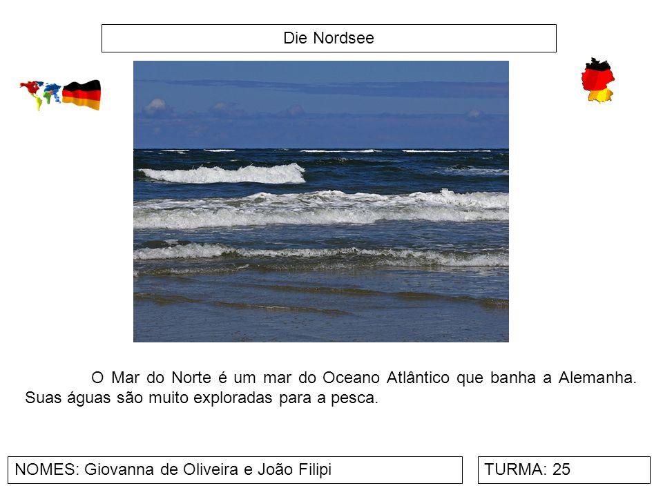 Die Nordsee NOMES: Giovanna de Oliveira e João FilipiTURMA: 25 O Mar do Norte é um mar do Oceano Atlântico que banha a Alemanha. Suas águas são muito