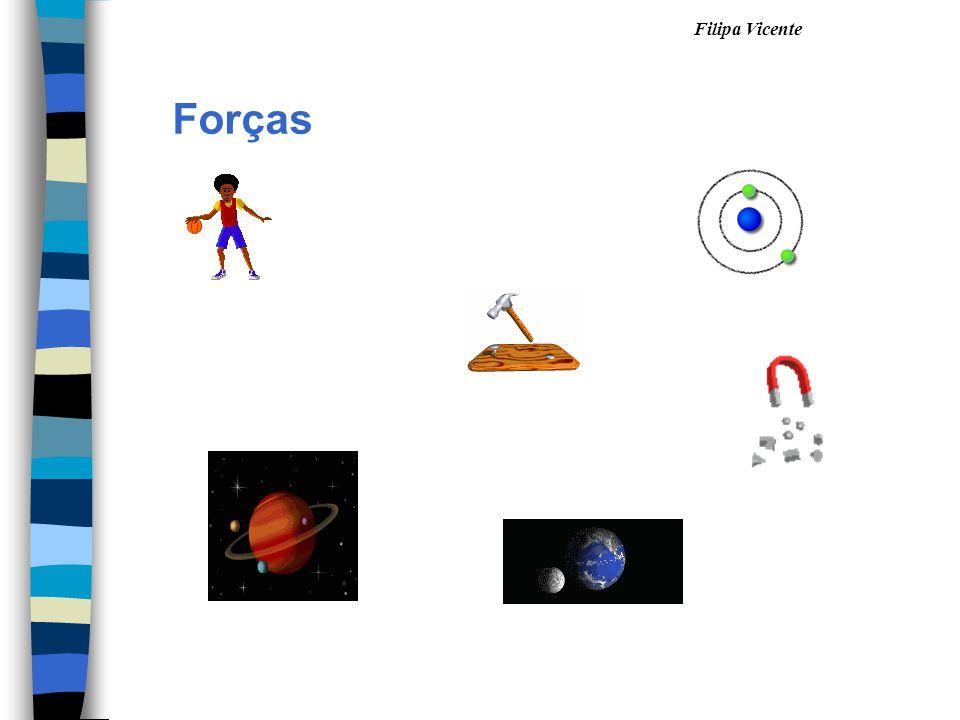 Forças As forças podem exercer-se Por contactoÀ distância Forças elétricas Forças magnéticas Forças gravíticas As forças magnéticas e eléctricas podem ser de repulsão ou de atração.