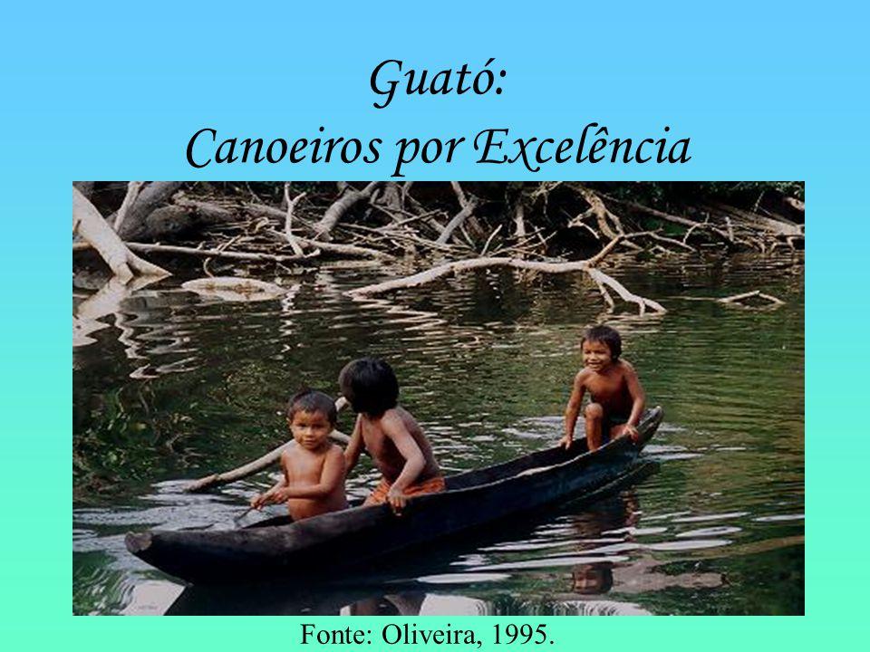 Guató: Canoeiros por Excelência Fonte: Oliveira, 1995.