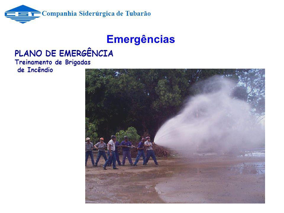Emergências Companhia Siderúrgica de Tubarão PLANO DE EMERGÊNCIA Treinamento de Brigadas de Incêndio
