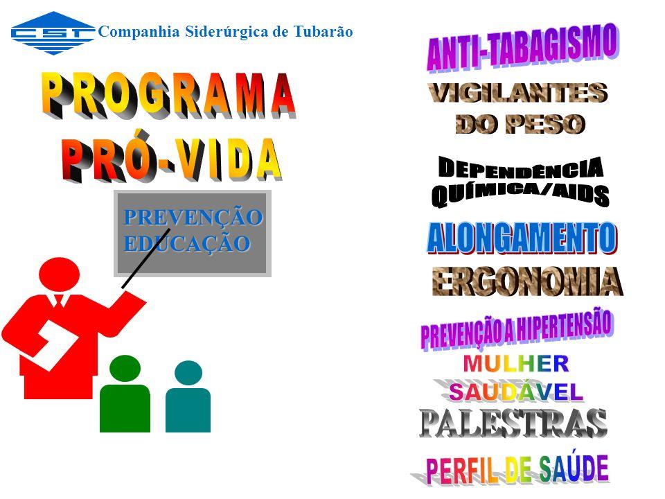 PREVENÇÃO PREVENÇÃO EDUCAÇÃO EDUCAÇÃO Companhia Siderúrgica de Tubarão