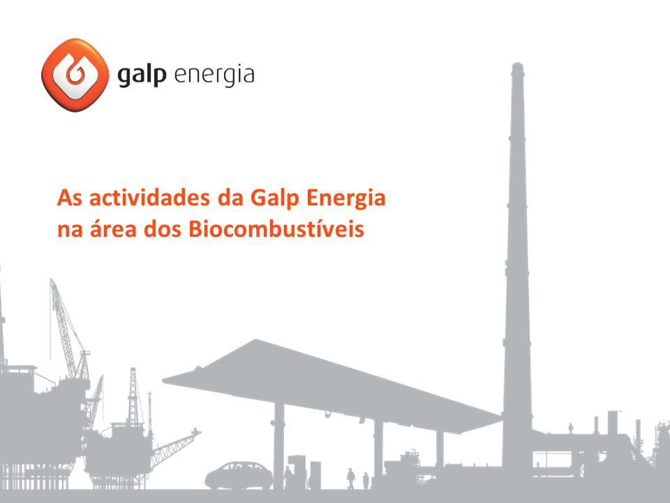 As actividades da Galp Energia na área dos Biocombustíveis