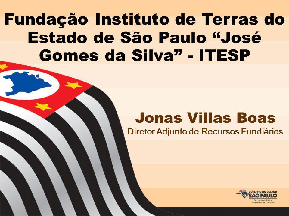 Fundação Instituto de Terras do Estado de São Paulo José Gomes da Silva - ITESP Jonas Villas Boas Diretor Adjunto de Recursos Fundiários