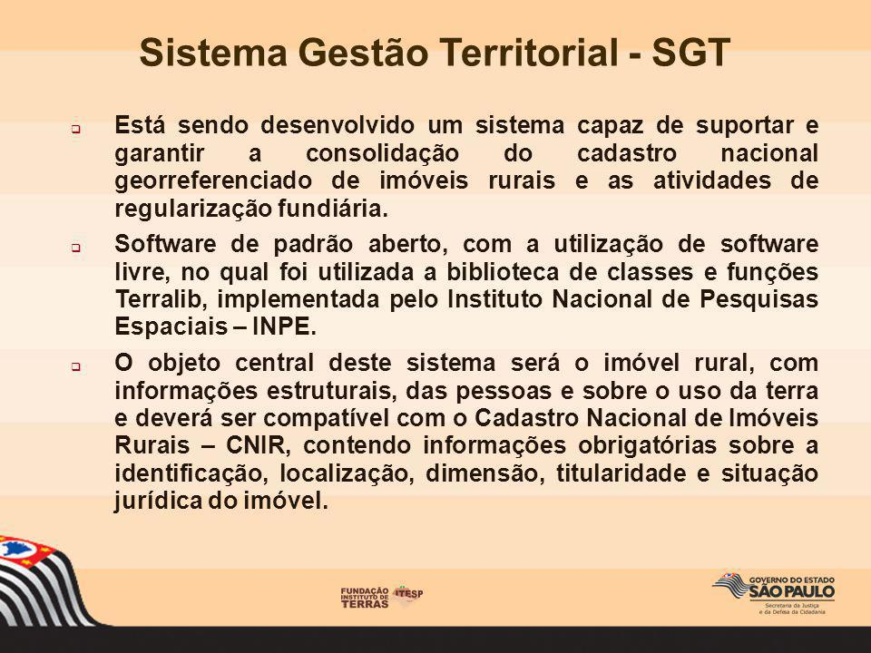 Está sendo desenvolvido um sistema capaz de suportar e garantir a consolidação do cadastro nacional georreferenciado de imóveis rurais e as atividades
