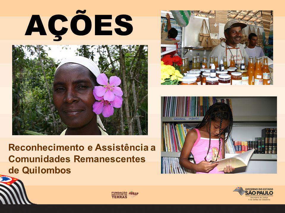Reconhecimento e Assistência a Comunidades Remanescentes de Quilombos AÇÕES