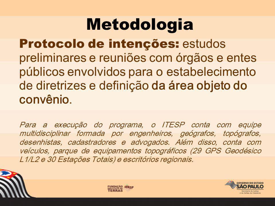 Protocolo de intenções: estudos preliminares e reuniões com órgãos e entes públicos envolvidos para o estabelecimento de diretrizes e definição da áre