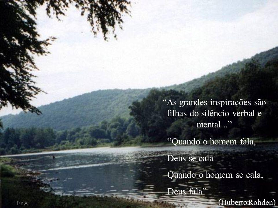 As grandes elevações da alma só são possíveis na solidão e no silêncio.