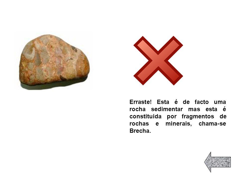 Erraste, esta rocha é o granito, ou seja, é uma rocha magmática!