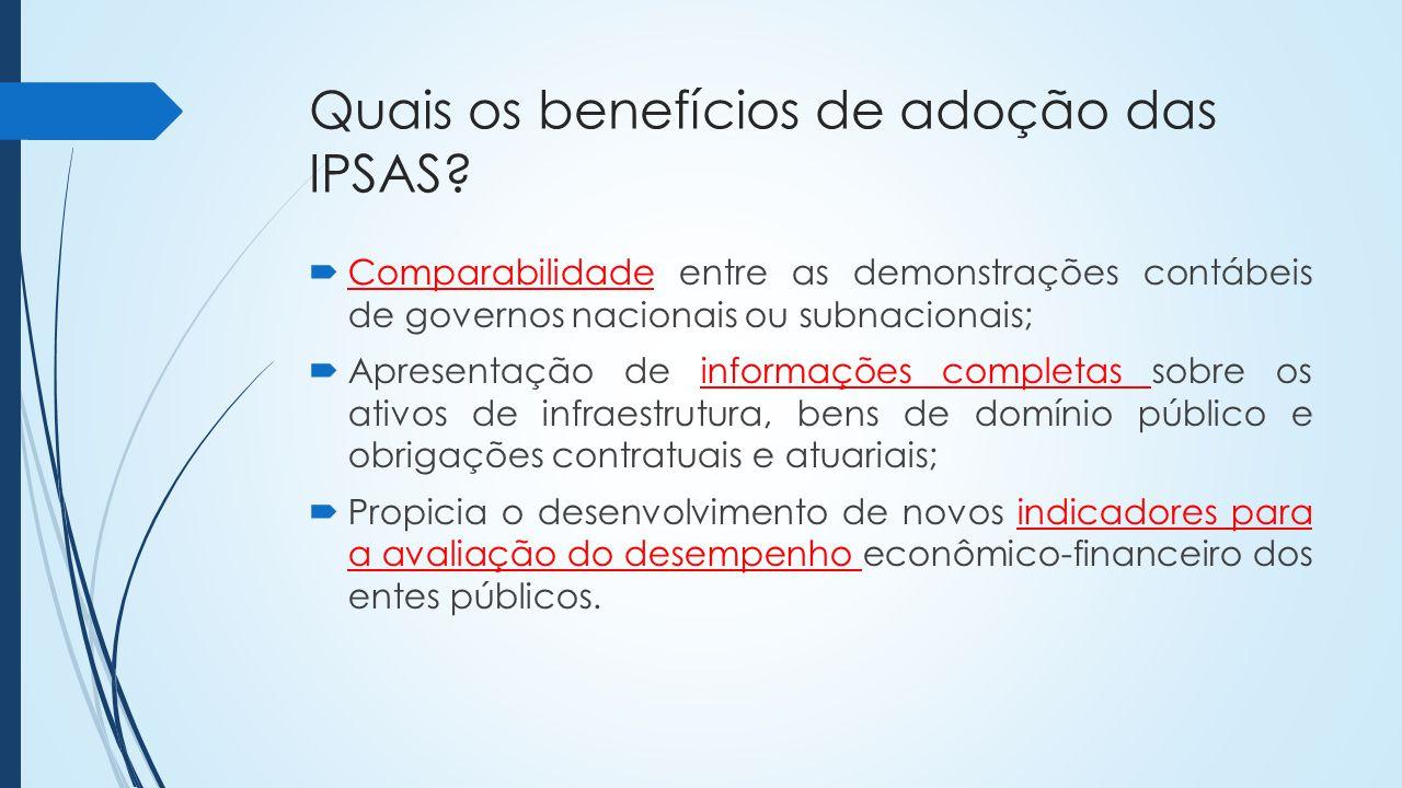 Quais os benefícios de adoção das IPSAS.