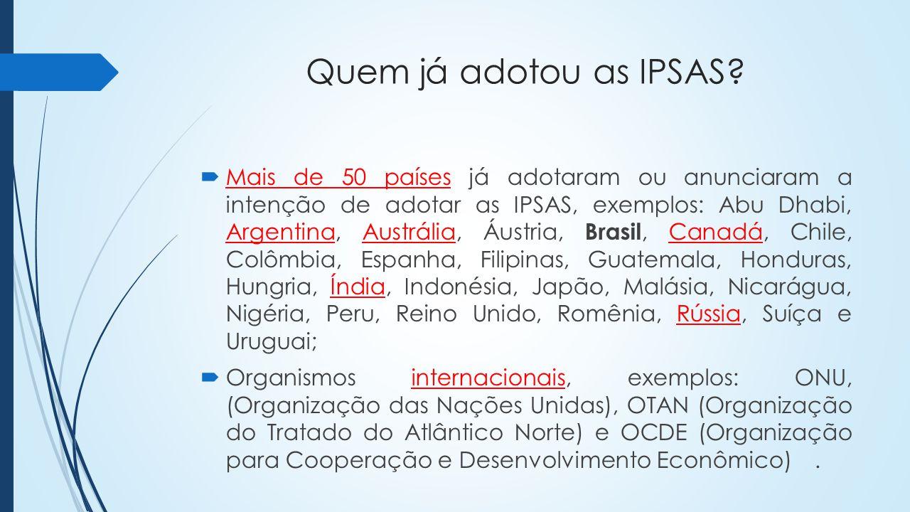 Quem já adotou as IPSAS.