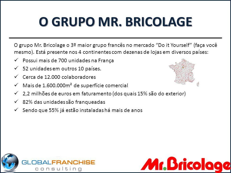 A LOJA As lojas Mr.Bricolage atendem profissionais do setor e o público em geral.