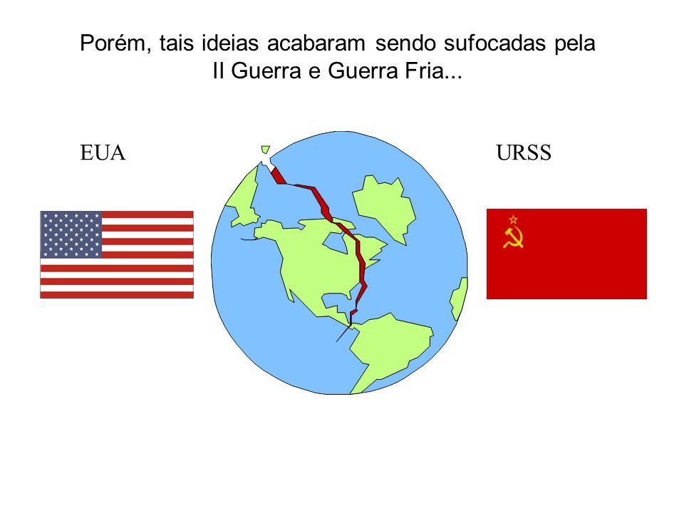 EUAURSS Porém, tais ideias acabaram sendo sufocadas pela II Guerra e Guerra Fria...