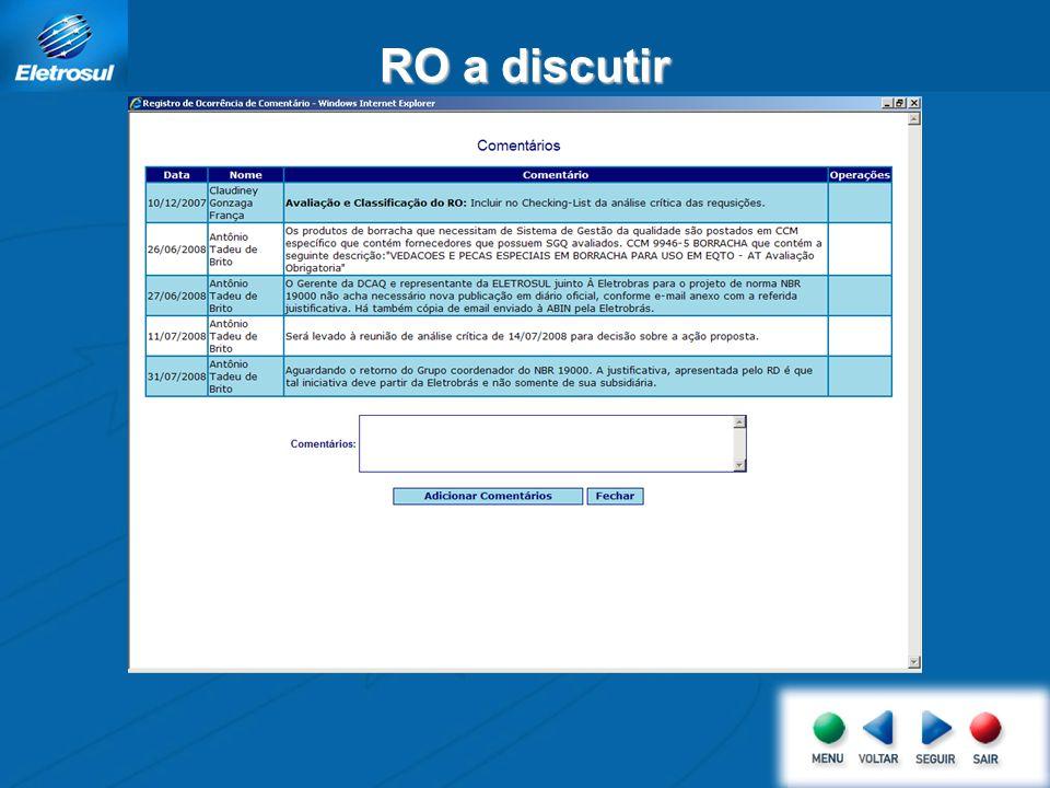 Estamos aguardando a resposta do Grupo Coordenador do Projeto NBR 19000