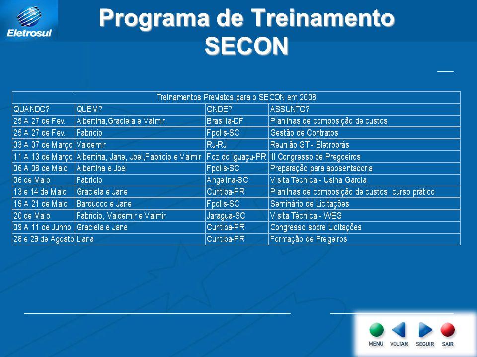 Programa de Treinamento SECON