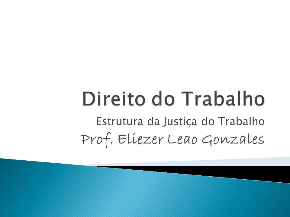 Estrutura da Justiça do Trabalho Prof. Eliezer Leao Gonzales