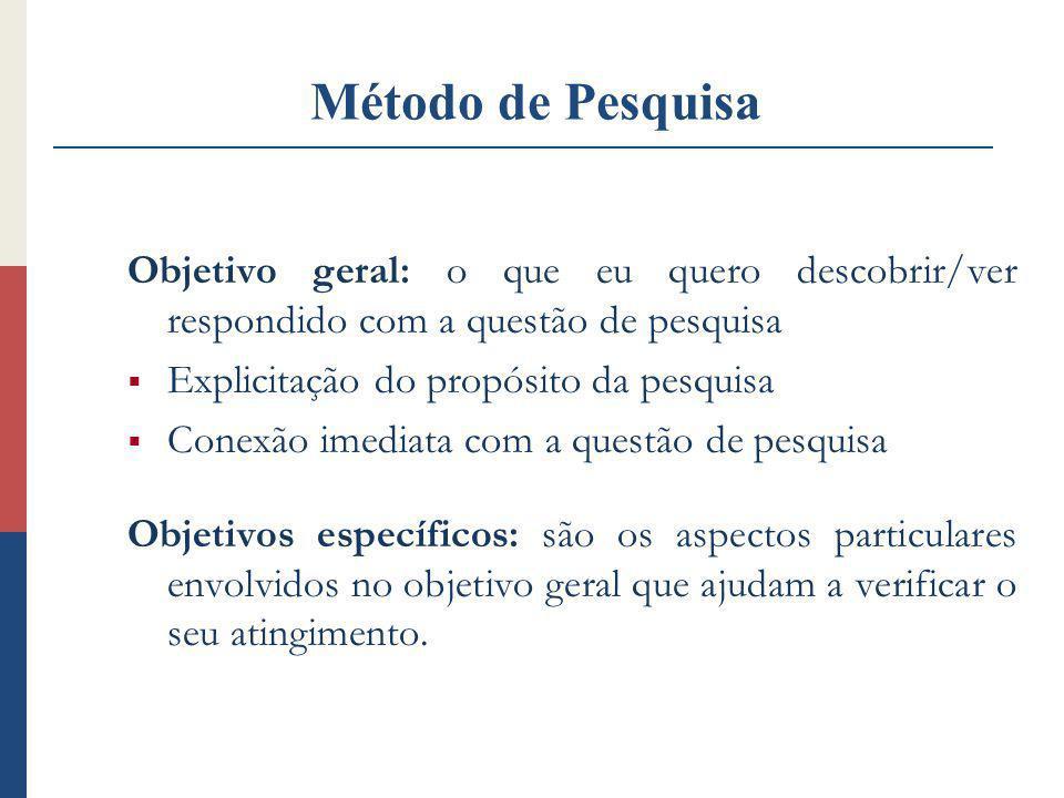 Um projeto de pesquisa Transmite a generalização ou acurácia pretendida para validar os resultados Essa questão é endereçada com objetividade e pertinência.