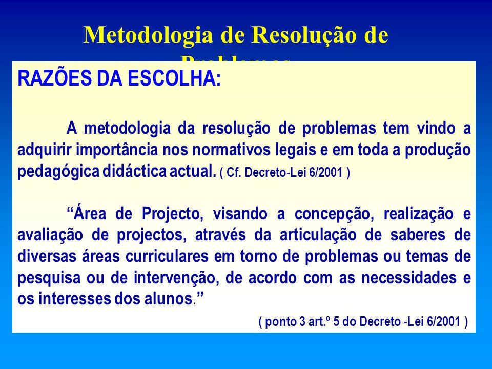 Démarche de Referencialização Trabalho Prático de Cariz Cooperativo Metodologia de Resolução de Problemas