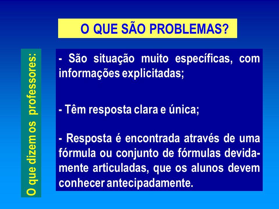 O QUE SÃO PROBLEMAS.