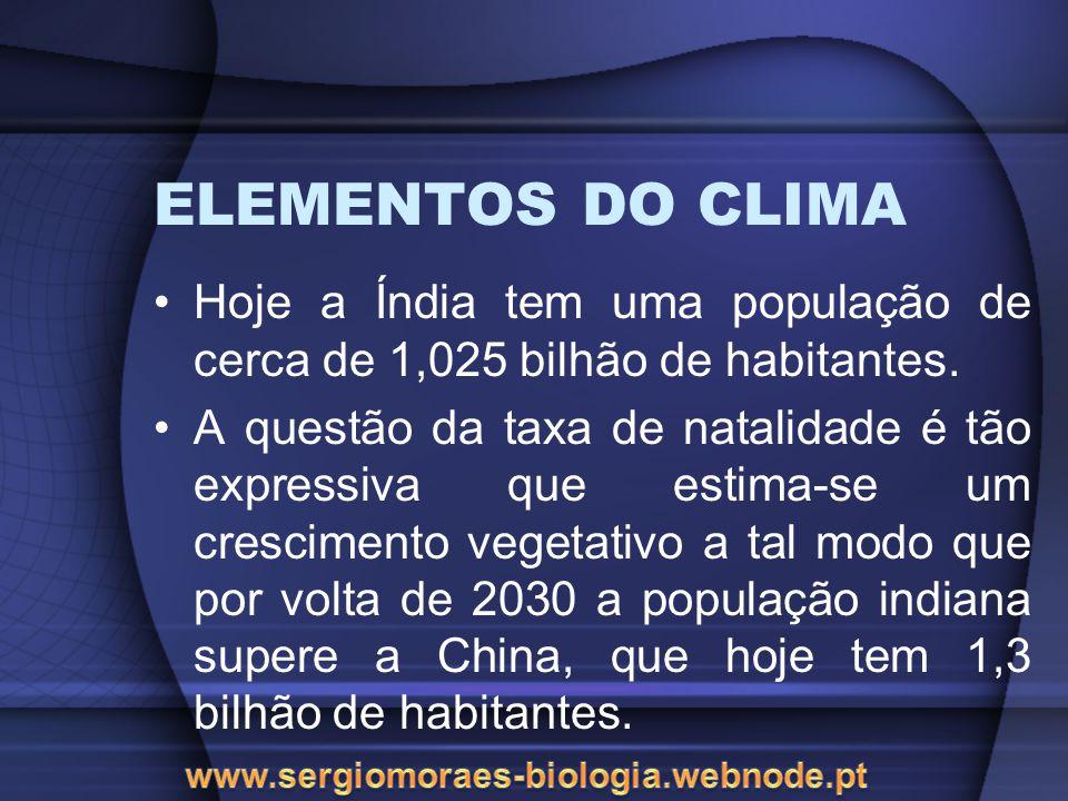 FATORES DO CLIMA Observe a tabela abaixo: INFLUÊNCIA DAS LATITUDES NA TEMPERATURA CidadeLatitude Média Térmica Anual Belém1º28S25,9ºC Salvador12º55S25,5ºC Vitória20º19S24,4ºC Porto Alegre31º01S20,1ºC Fonte: Anuário estatístico do Brasil, 1995.