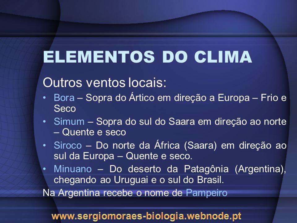 ELEMENTOS DO CLIMA Chuvas: São resultados da saturação do vapor dágua que se condensa passando do estado gasoso para o líquido.