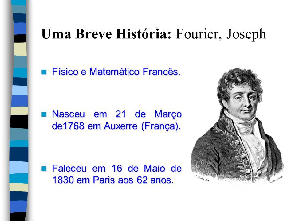 Uma Breve História: Fourier, Joseph Físico e Matemático Francês.