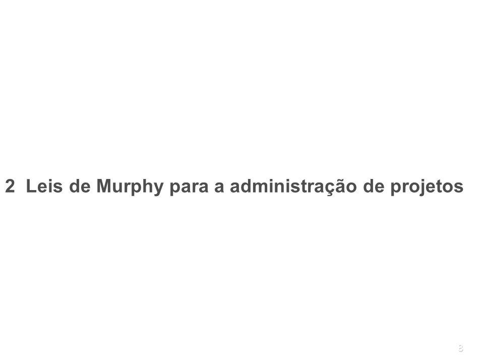 8 2 Leis de Murphy para a administração de projetos