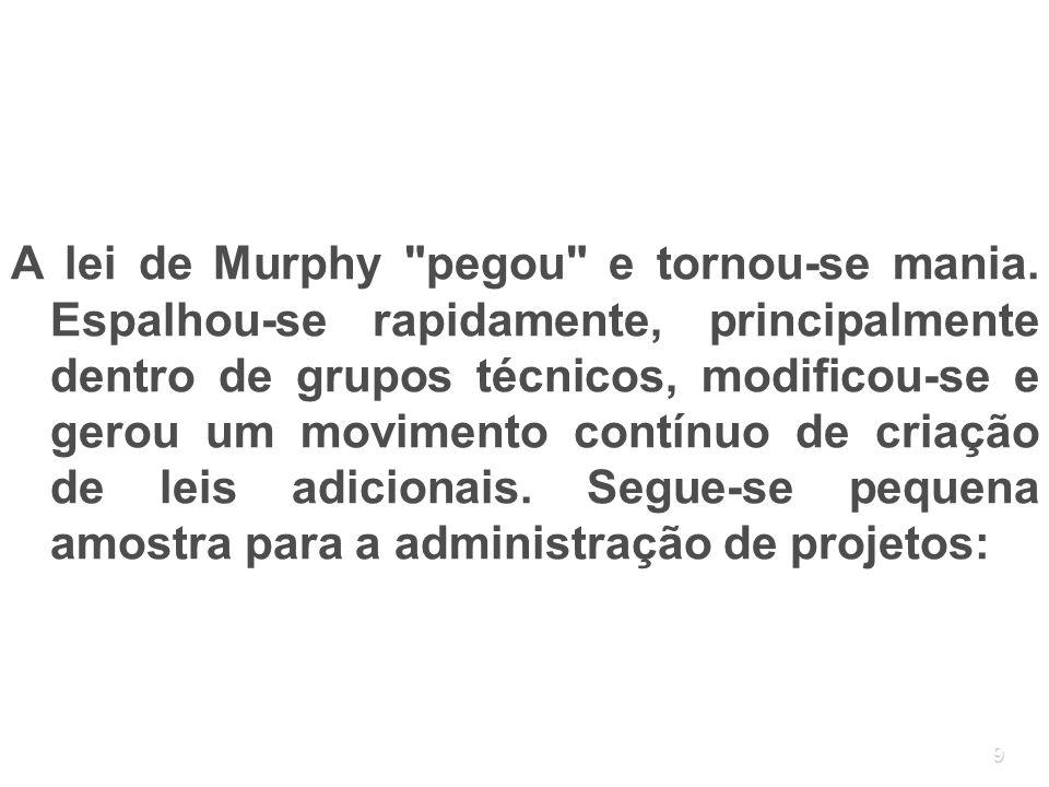 9 A lei de Murphy