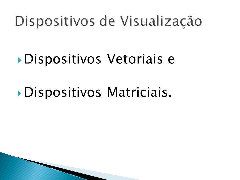 Dispositivos Vetoriais e Dispositivos Matriciais.