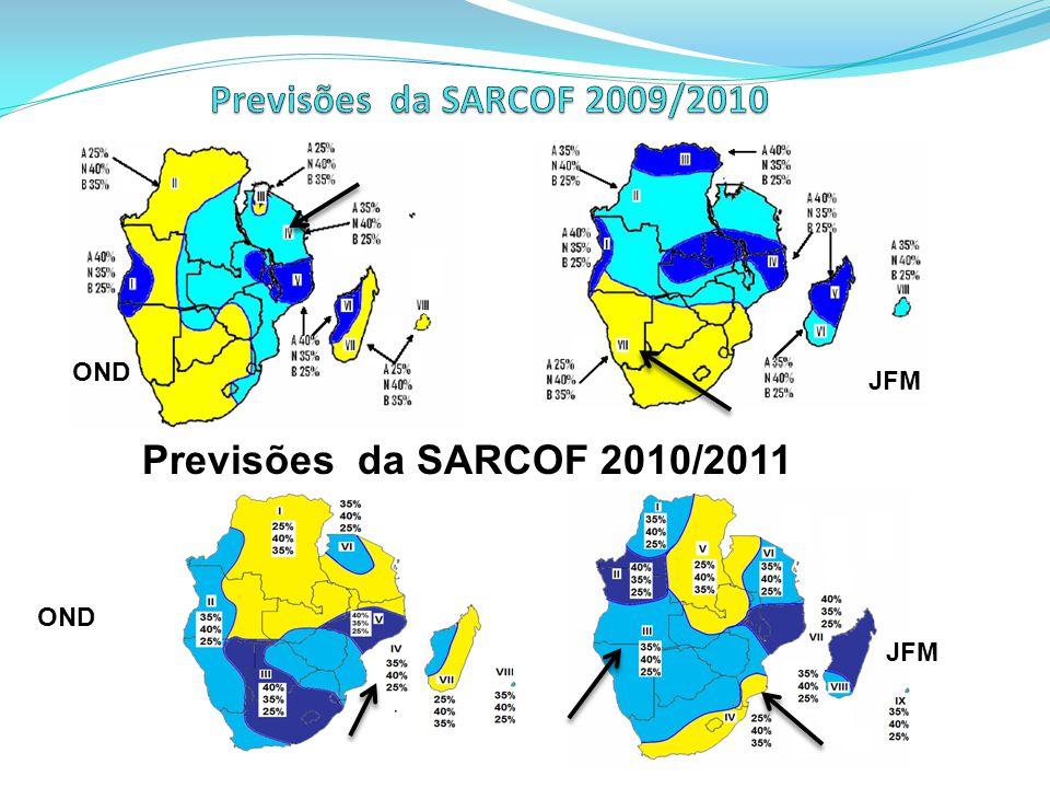 Previsões da SARCOF 2010/2011 OND JFM OND JFM