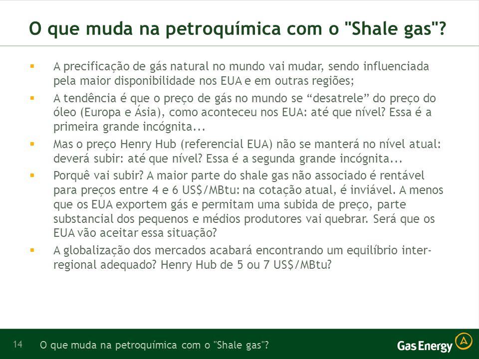 14 O que muda na petroquímica com o Shale gas .