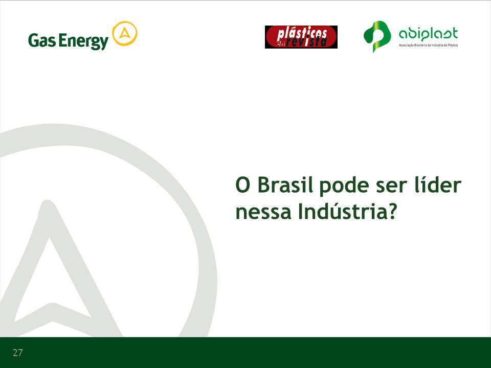 27 O Brasil pode ser líder nessa Indústria?