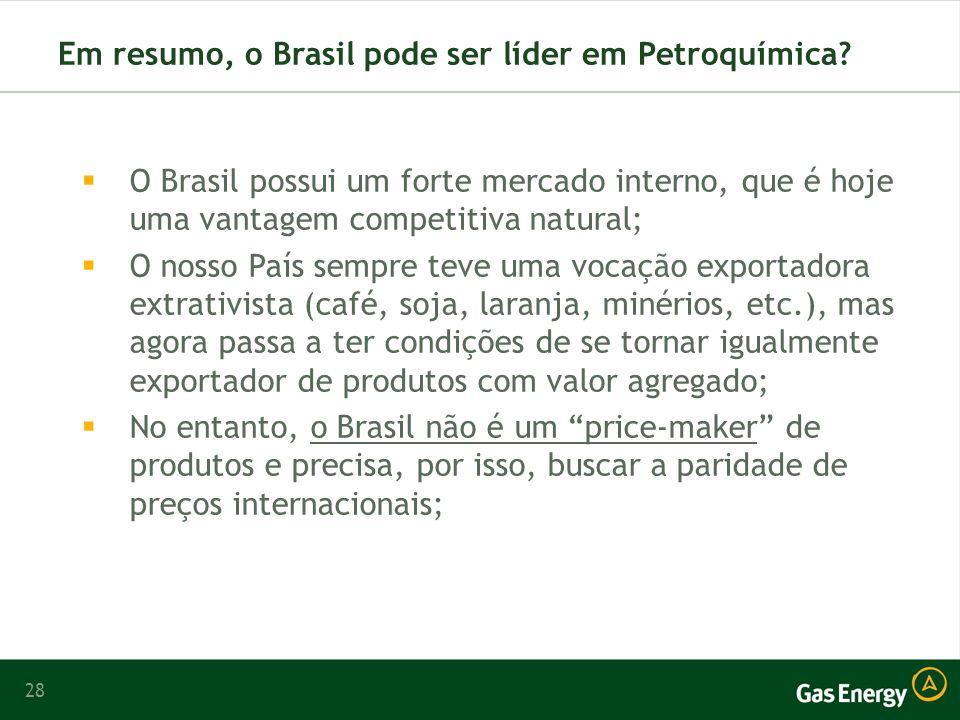 28 Em resumo, o Brasil pode ser líder em Petroquímica.