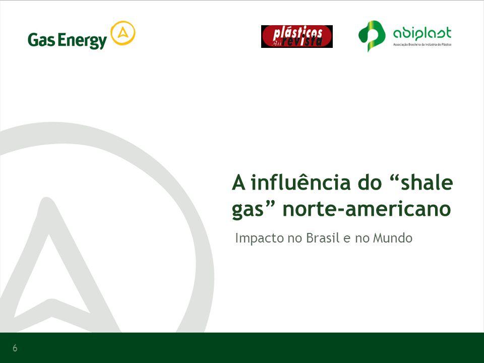 6 A influência do shale gas norte-americano Impacto no Brasil e no Mundo