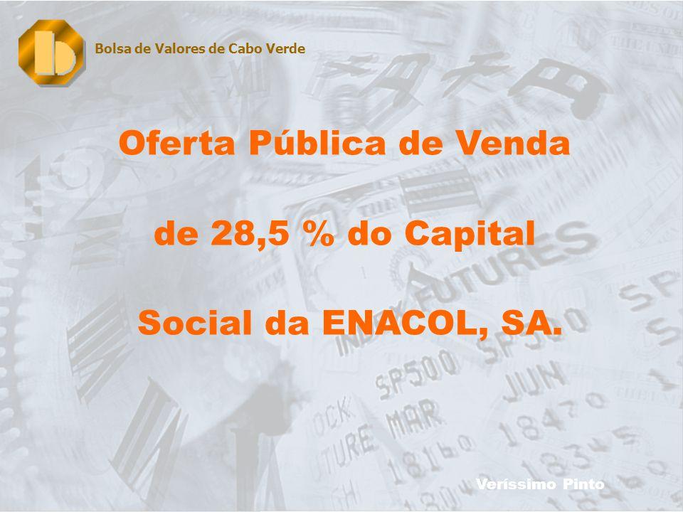 20 Oferta Pública de Venda de 28,5 % do Capital Social da ENACOL, SA.