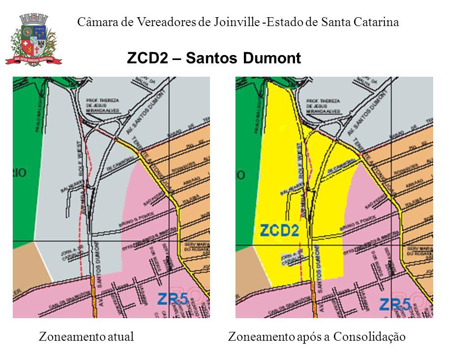 ZCD2 – Santos Dumont Zoneamento atual Zoneamento após a Consolidação Câmara de Vereadores de Joinville -Estado de Santa Catarina