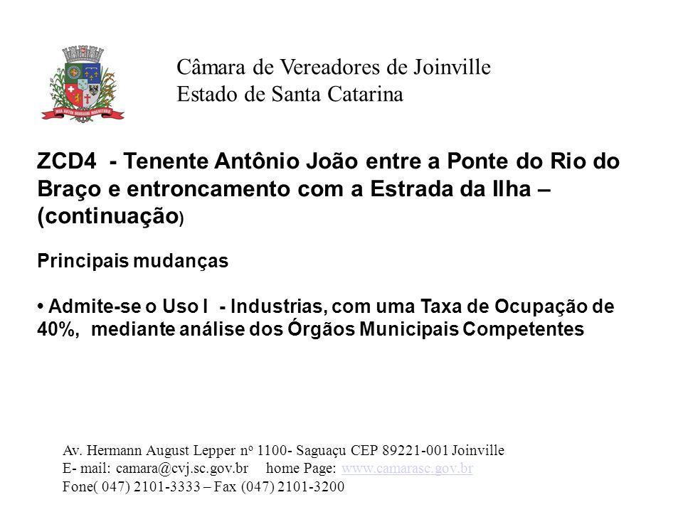 Câmara de Vereadores de Joinville Estado de Santa Catarina Av.