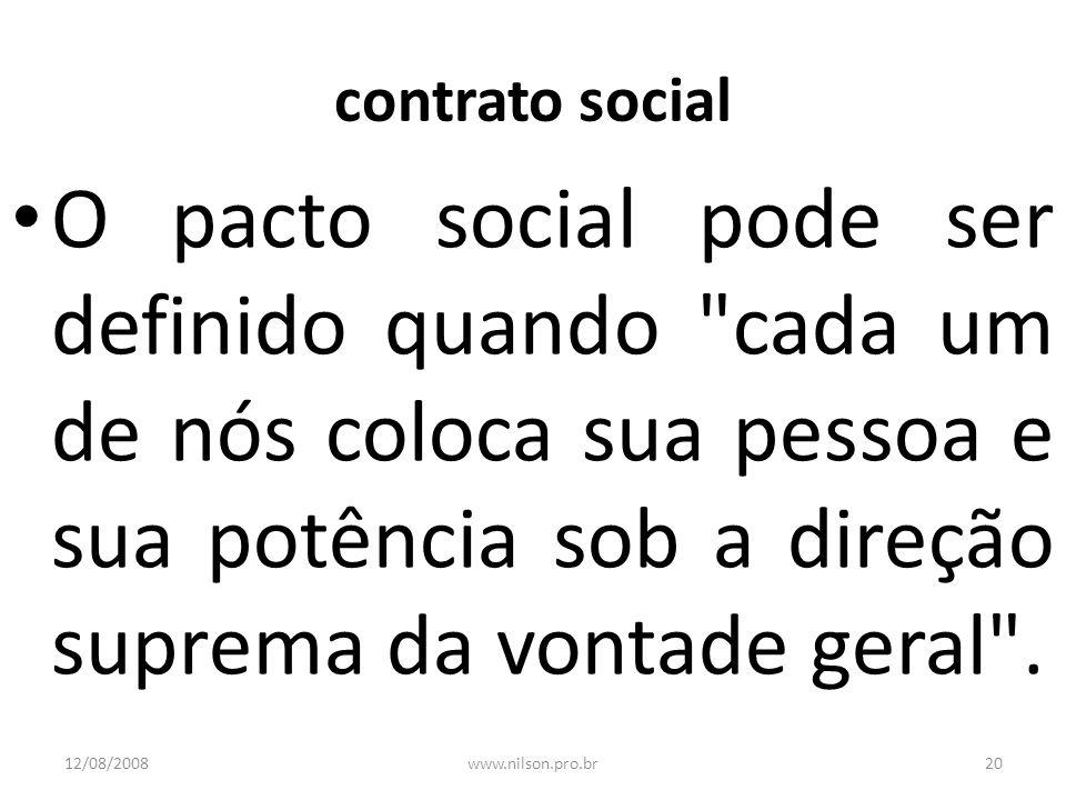 contrato social O pacto social pode ser definido quando