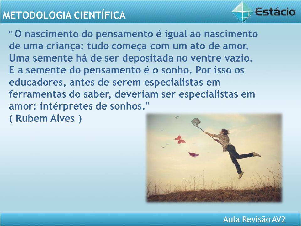 Aula Revisão AV2 METODOLOGIA CIENTÍFICA