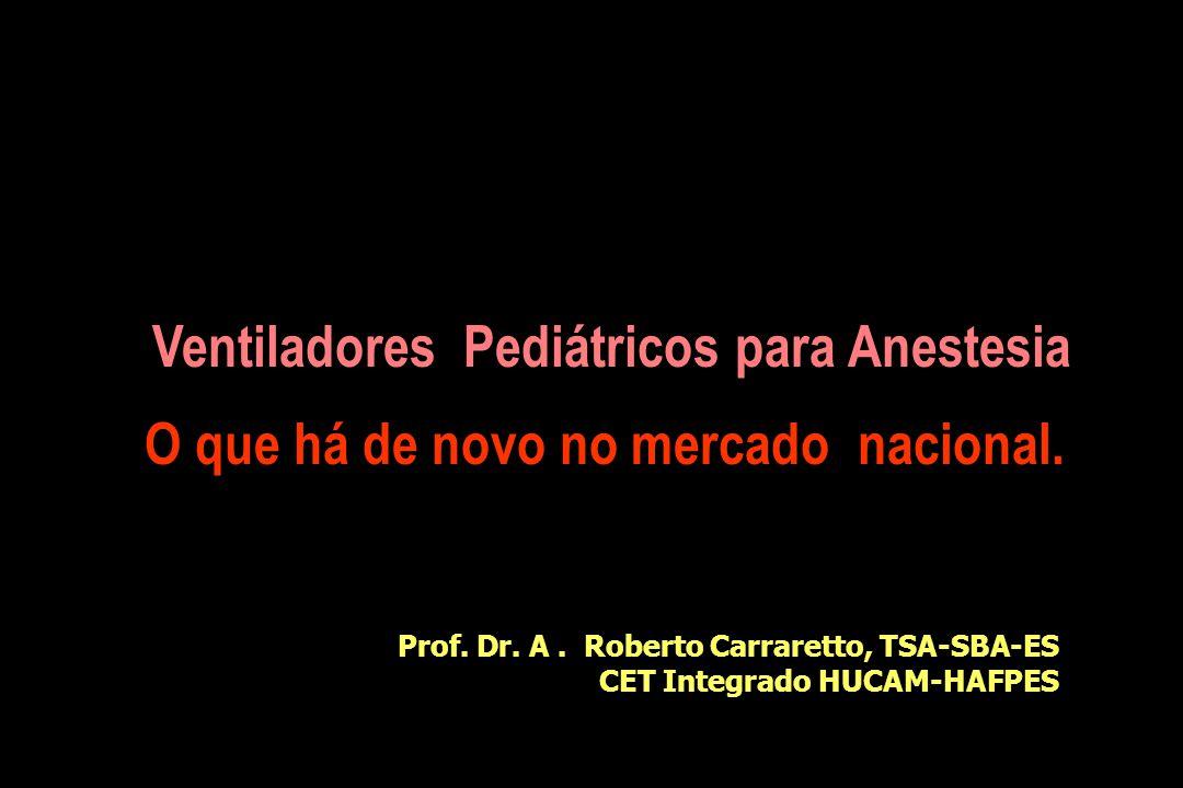Ventiladores Pediátricos para Anestesia O que há de novo no mercado nacional.