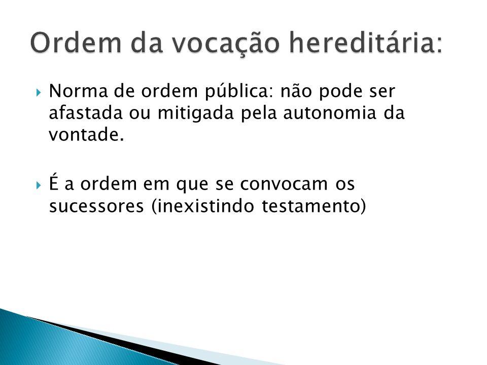 Norma de ordem pública: não pode ser afastada ou mitigada pela autonomia da vontade.