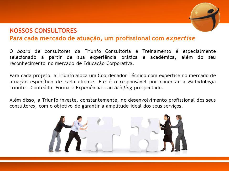 O board de consultores da Triunfo Consultoria e Treinamento é especialmente selecionado a partir de sua experiência prática e acadêmica, além do seu r